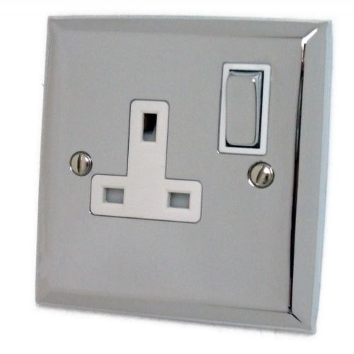 G&H SC209 Spectrum Plate Polished Chrome 1 Gang Single 13A Switched Plug Socket